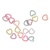 100x Milopon Artificial Pearls Beads Heart Shape for DIY Jewellery Craft Decoration Mixed colour