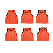 Youth Orange Scrimmage Training Vests Pinnies, Quanity 6