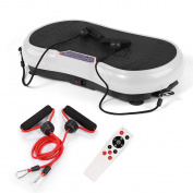 GENKI Slim Body Shape Vibration Power Plate Oscillating Platform Fitness Machine White