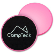 CampTeck 2x Dual Sided Gliding Discs Core Sliders for Home Fitness Workout, Abdominal & Full Body Exercises – For Use on Carpet & Hard Floors