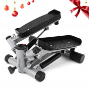 Ancheer Swing Stepper Including Resistance Cords / Aerobic Step Height Adjustable Level