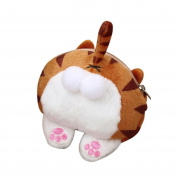 Handbag, Familizo Purse Bag Cute Cat Butt Tail Plush Coin Purse Change Purse Bag Handbag Crossbody Bag Shoulder Bags Purse Travel Bag