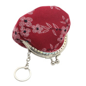 prelikes Lady Vintage Flower Canvas Mini Coin Purse Wallet Clutch bag