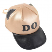 Kanggest Fashion Zipped Purse with Keyring Loop Creative PU Leather Baseball Hat Pouch Charm Mini Coin Wallet Bag for Women Little Girl Kids Gift