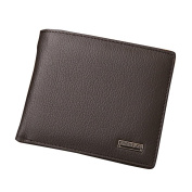 Sundatebe Mens Luxury Genuine Leather Bifold Short Slim Wallet With Coin Pocket 8 Card Slots