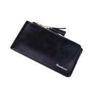 Bluelans Women Pure Colour Faux Leather Wristlet Bag Coin Purse Zipper Wallet Cell Phone