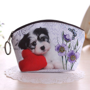 Lilyeyes Lady Dog Cat Pet Faux Leather Clutch Short Coin Purse Wallet Gift Charming