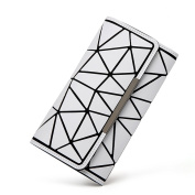 Luminous Matte Long Wallet Multi-card Position Hand Grasp The Clutch Japanese Simple Female Wallet Irregular Chaos Triangle Wallet