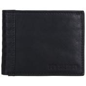 Ben Sherman Men's Leather Bi-Fold Five Pocket Wallet with Id Window (Rfid), Black