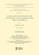 Katalog Der Handschriften Der Universiats- Und Landesbibliothek Tirol in Innsbruck. Teil 10 [GER]