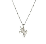 Albeey Women Unicorn Silver Alloy Necklace