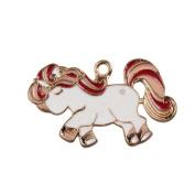 bismarckbeer Cute Cartoon Mini Unicorn Toy Bag Hanging Pendant Car Key Ring DIY Gift