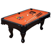 Harvil 210cm Black Pool Table with Claw Legs and Complete Accessories