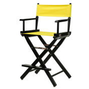 Casual Home Black Frame Canvas Director Chair, 60cm , Yellow