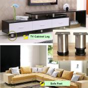 Adjustable Feet (80-95mm) Round Cabinet Legs Kitchen Feet Worktop Bar TV Desk Table Legs Furniture Legs