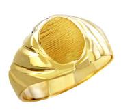 Men's Roman Solid Gold Signet Ring