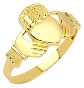 Gold Claddagh Ring Mens