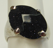 Blue Goldstone Fashion Men Rings-smooth surface