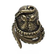 THZY Men Finger Ring Bronze Alloy Octopus Shape Gothic Style Vintage 25MM