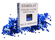 ✮FLASH SALE✮ Blue Mermaid 10g Chunky Cosmetic Glitter & FREE Fix Gel ✮ Festival Glitter, Use on Face, Body, Hair, Nails ✮ By Stardust
