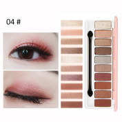 10 Colours Eyeshadow Palette Matte and Shimmer,Waterproof Long Lasting Eye Shadow with Brush VNEIRW