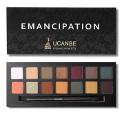 14 Colours Eyeshadow Palette Matte and Shimmer,Waterproof Long Lasting Eye Shadow with Brush VNEIRW