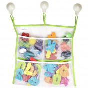 Baby Bath Toy Organiser, Premium Kids Mesh Net Toy Storage Bag, Nooni Care Shower Caddy with Heavy Duty Lock Suction Cups