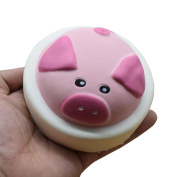 Fat.chot Pink Pig Squishy Toy Relieves Stress Soft Cute Slow Rising Squeeze Toy New Year Christmas Party Funny Decoration Relax Decompression Toys Gift for Kids Adults