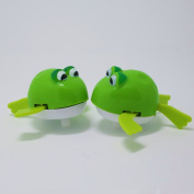 timeracing Lovely Baby Children Bath Toys Wind up Cartoon Frog Tortoise Plastic Swimmingh Toy Gift