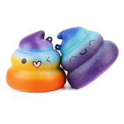 2PCS Cute decompression Gift, UBabamama Fun Scented Squishies Slow Rising Soft Squeeze Charms Simulation Kid Toy