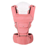 Multifunction Baby carrier Breathable Shoulders Stool Pink