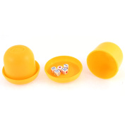 Game Dice Roller Cup Orange 2 Pcs each w 5 Dices