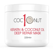 Coc10nut Keratin & Coconut Oil Deep Repair Mask 225ml