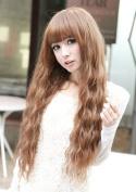 X & Y ANGEL New Fashion Fluffy Healthy Long Curly Kanekalon Full Wig As Real Hair Brown AQ161 by X & Y ANGEL