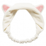 Fostly Girls Sweet Hair Band Cute Cat Ears Headband Hairband Headdress Gift White