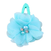 ZHUOTOP Toddler Baby Girls Chiffon Wrap Clip Barrettes Kids Solid Flower Hair Clips Headwear Hair Accessories Turquoise Green 16#