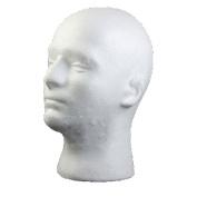 Male Mannequin Styrofoam Foam Manikin Head Model Wig Glasses Hat Display Stand Eyelashes Makeup Massage Practise