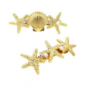 Fostly Starfish Shells Hairpin Hair Clip Boddy Pin Headwear Headdress Jewellery Accessories For Girls