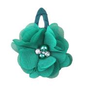 ZHUOTOP Toddler Baby Girls Chiffon Wrap Clip Barrettes Kids Solid Flower Hair Clips Headwear Hair Accessories Dark Green 13#