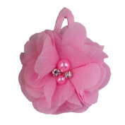 ZHUOTOP Toddler Baby Girls Chiffon Wrap Clip Barrettes Kids Solid Flower Hair Clips Headwear Hair Accessories Pink 3#