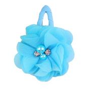 ZHUOTOP Toddler Baby Girls Chiffon Wrap Clip Barrettes Kids Solid Flower Hair Clips Headwear Hair Accessories Blue 20#