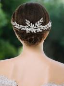Handcess Wedding Hair Comb Rhinestones Bridal Hair Side Comb Accessories Headdress for Bride and Bridesmaid