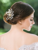 Handcess Wedding Hair Comb Bridal Bead Hair Comb Accessories for Women and Girls