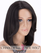 Chantiche Natural Black Wig - Short Bob Wig Side Part Synthetic Hair Wigs for Women Machine Made with Free Wig Cap #1B