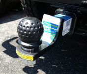 Golf Ball Tow Ball Cover for Trailer Hitch Receiver, Black