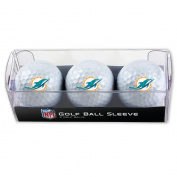 Miami Dolphins Golf Balls - 3 pc sleeve