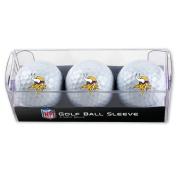 Minnesota Vikings Golf Balls - 3 pc sleeve
