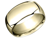 Mens 10mm Wedding Band in 14K Yellow Gold
