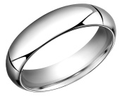 Mens 6mm Comfort Fit Wedding Band in 10K White Gold