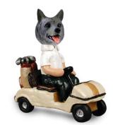 NO.DOOG52218 Norwegian Elkhound Golf Cart Doogie Collectable Figurine